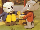 Edward Elephant and Boris Bulldog fro  LEGO's Fabuland tv series.....