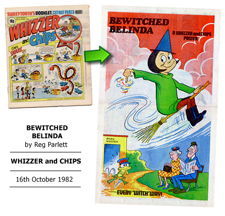 """Bewitched Belinda"" poster by Reg Parlett"
