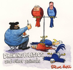 Drawing Politics and other animals - - a Steve Bell exhibition at the Lightbox Gallery