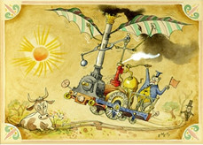 """Engines of Enchantment: The Machines and Cartoons of Rowland Emett"" now on at  The Cartoon Museum"