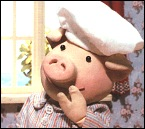 Hmm... I wonder who this is? - It's Huxley Pig!