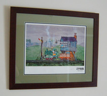 """On The Railway"" now appearing on THe Hound's living room wall!"