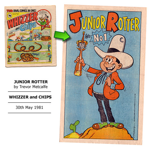 """Junior Rotter"" poster by Trevor Metcalfe"