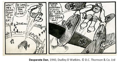 Desperate Dan, 1940, Dudley D Watkins - copyright DC Thomson & Co Ltd