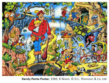 Dandy Panto Poster, 1989, R Nixon - copyright DC Thomson & Co Ltd