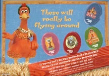 Pringles Chicken Run promotional flyer
