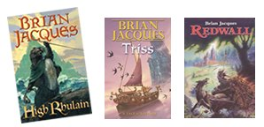 Redwall books by Brian Jacques