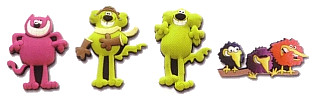 Roobarb and Custard Too badges, from Sue Ryder Care